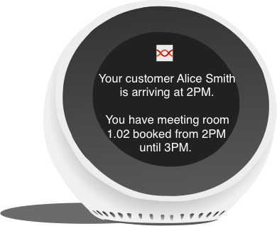 digital assistant for meeting rooms example