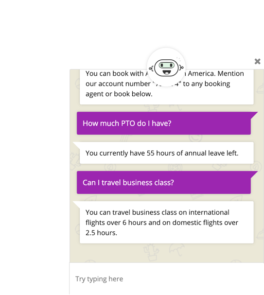 Once you open the chat you can ask your AI any question.