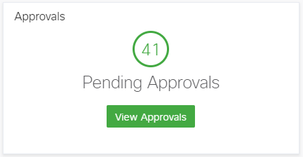 Shows you a big count of your pending approvals so you can see how much you have to approve at a glance.