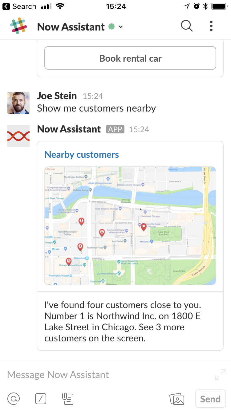 Wherever you have Slack you have the same great functionality of your smart Assistant.